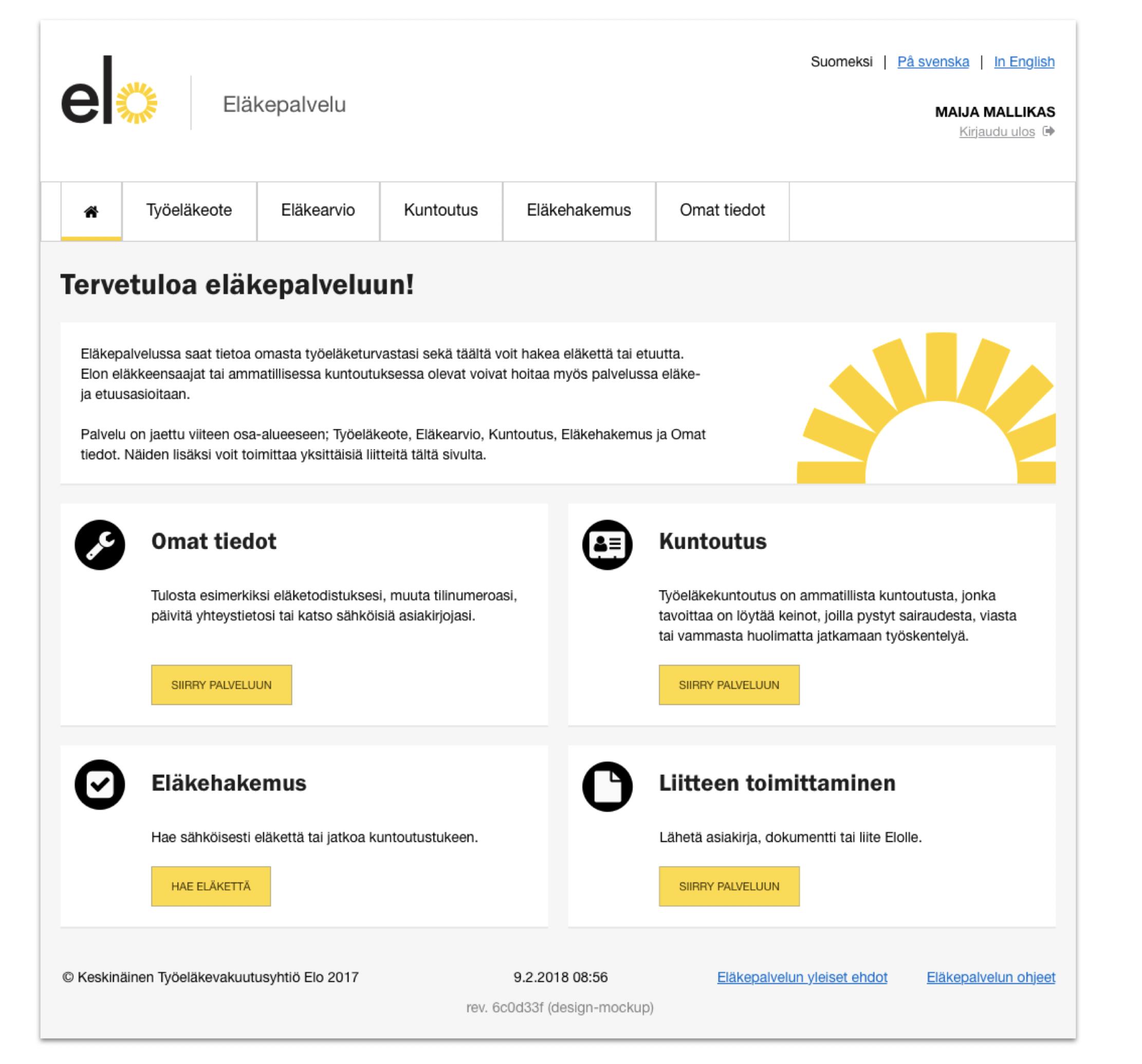 Elo webservice view