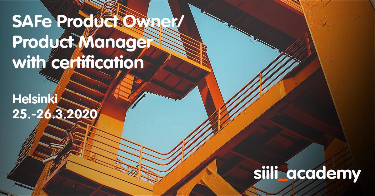 SAFe Product Manager/ Product Owner -kurssi ja SAFe PMPO -sertifiointi | Helsinki, 25.-26.3.2020