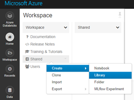 Creating a library to Azure Shared folder
